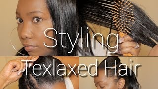 getlinkyoutube.com-Styling Texlaxed Hair - A little Something Different!