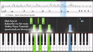Tu Chahiye (Atif Aslam) Bajrangi Bhaijaan    Piano Tutorial/Lesson + Music Sheet + MIDI