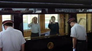 getlinkyoutube.com-【罵声有】'12.10.6 天皇・皇后両陛下E655系TR車ご乗車 お召し列車東京駅発車