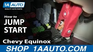getlinkyoutube.com-How To Jump Start Pontiac Torrent Chevy Equinox Remote Battery Connections