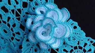 getlinkyoutube.com-Как связать РОЗОЧКУ брошку. Вяжем розу крючком. How to crochet a rose motif.  Crochet Rose Brooch