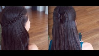 getlinkyoutube.com-4 Cute Back to School Hair Styles !!! (Promise Phan)
