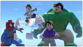 getlinkyoutube.com-Hulk (Transformation) Vs Spider Man (Transformation)- Lego Marvel Super Heroes Game