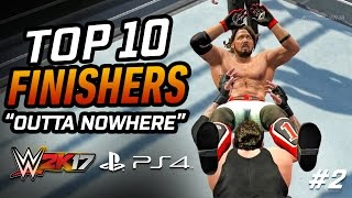 WWE 2K17 Top 10 Finishers Outta Nowhere! (Reversals / Counters) #2
