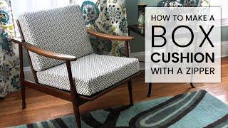 getlinkyoutube.com-How to Make a Box Cushion with a Zipper