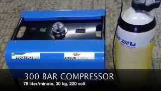 300 bar compressor for air gun and paintball
