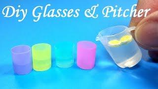 getlinkyoutube.com-DIY Miniature Realistic Glasses (Cups) & Pitcher