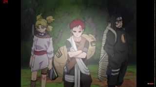 getlinkyoutube.com-Temari,Kankuro,Gaara vs Shigure,Midare,Baiu - Naruto Chunin Exams - Forest Of Death