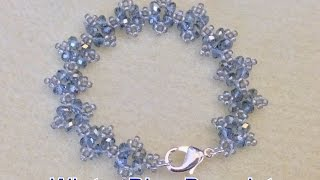 getlinkyoutube.com-Winter Blue Bracelet- Beginner Tutorial