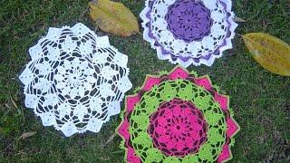 getlinkyoutube.com-Carpeta fácil de tejer en crochet  paso a paso tutorial DIY parte 1