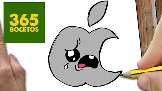 getlinkyoutube.com-COMO DIBUJAR LOGO APPLE KAWAII PASO A PASO - Dibujos kawaii faciles - How to draw a logo APPLE