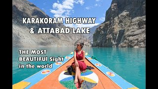getlinkyoutube.com-Karakoram Highway along Attabad Lake