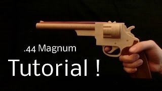 getlinkyoutube.com-Tutorial! .44 Magnum [rubber band gun]