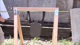 """getlinkyoutube.com-Cheap, easy, take down stand for steel targets and """"rubber chains"""""""
