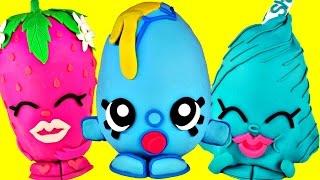 getlinkyoutube.com-SUPER AMAZING SHOPKINS Giant Play Doh Surprise Eggs Opening | HUGE Surprise Toy Unboxing Video