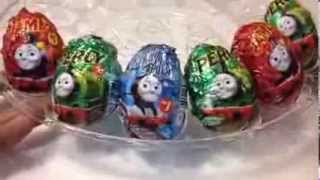 getlinkyoutube.com-Thomas and Friends Chocolate Surprise Eggs Collection Thomas, Percy, James Unwrapping HD