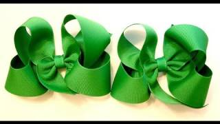 getlinkyoutube.com-hair bow tutorial (HOW TO MAKE A TWISTED HAIR BOW) Classic Boutique Style bow