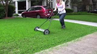getlinkyoutube.com-Deluxe Light Push Reel Lawn Mower