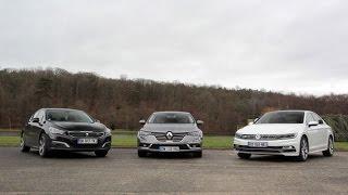 getlinkyoutube.com-Comparatif 2016 - Renault Talisman vs Peugeot 508 vs Volkswagen Passat : nouvelle hiérarchie ?