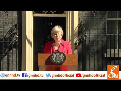 Theresa May announces that she will resign on June 7