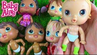 getlinkyoutube.com-All of my Baby Alive Crib's Life Dolls and Hallmark Winnie the Poo Mobile