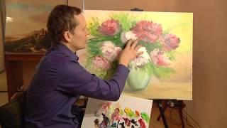 getlinkyoutube.com-Пионы маслом, уроки масляной живописи.