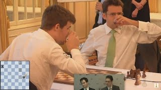 getlinkyoutube.com-GM Levon Aronian vs GM Magnus Carlsen Chess Blitz