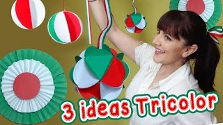 getlinkyoutube.com-3 Ideas Tricolor Decorativas estilo Mexicano :: Chuladas Creativas :: Esferas de papel