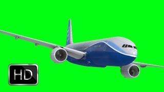 getlinkyoutube.com-boeing 747 in green screen free stock footage
