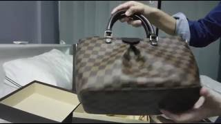 getlinkyoutube.com-UNBOXING Louis Vuitton Siena PM in Damier Ebene