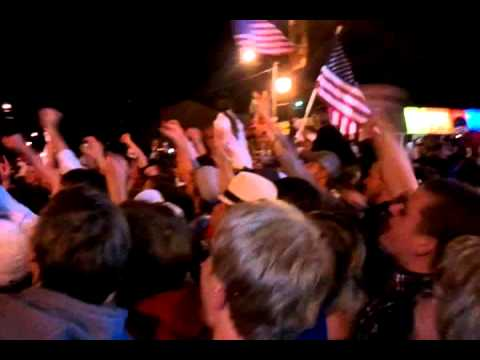 Osama Bin Laden is Dead! - Celebration at Iowa State (Welch Ave &quot;USA&quot; Chant)