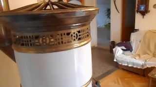 getlinkyoutube.com-Cast iron stove Art Nouveau. Sezession Gusseisen Herd.