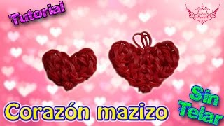 getlinkyoutube.com-♥ Tutorial: Corazón Macizo de gomitas (sin telar) ♥
