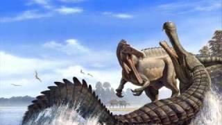 getlinkyoutube.com-Carcharodon Megalodon vs Sarcosuchus Imperator