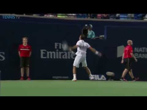 Amazing point from Stepanek .v. Djokovic, 2016 Rogers Cup Round of 16