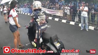 getlinkyoutube.com-OZ Racing News - Surya Uya kuya Mio 200cc Ikut FFA langsung gas Scooter