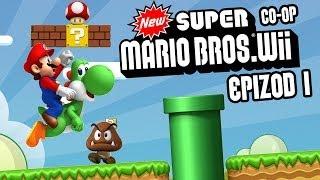 #1 Zagrajmy w New Super Mario Bros. Wii - Świat 1 - Coop z Karoliną - Wii Gameplay PL