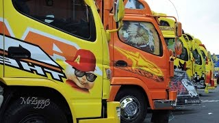 getlinkyoutube.com-KAMT Mitsubishi Fuso Canter Isuzu Elf Truck Festival Custom Modification