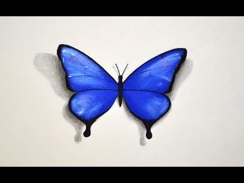 Cómo dibujar una mariposa - Cómo dibujar con pastel