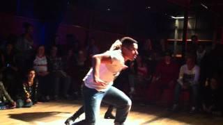 getlinkyoutube.com-Rond: 2 Jeremy & Melina VS. Kristoffer & Joanna @ ONE KNOCK EVENT 2011