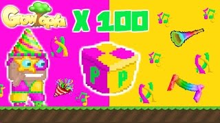 getlinkyoutube.com-Growtopia - Opening 100 Party Boxes
