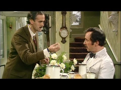 Funny! Basil gives Manuel a language lesson - Fawlty Towers - BBC