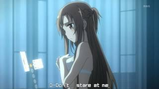 Sword Art Online - Asuna is confused (and getting undressed)