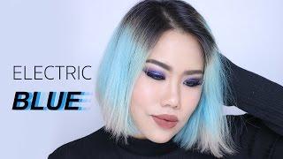 getlinkyoutube.com-Electric Blue Makeup ฟาดตาฟ้ารับวันเด็ก