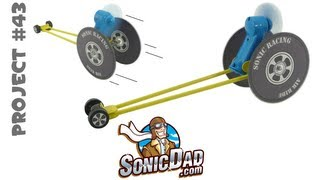 getlinkyoutube.com-Make a Race Car from Old CDs - SonicDad Project #43 (Sonic Air Racer)