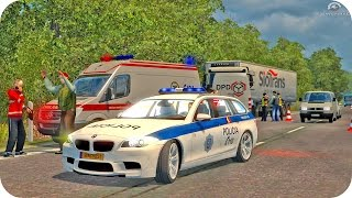 getlinkyoutube.com-BMW Police Driving ETS2 (Euro Truck Simulator 2)