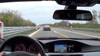 getlinkyoutube.com-Chasing A5 Sportback with BMW 330d LCI on German Autobahn