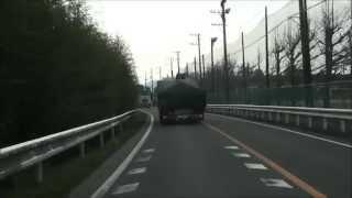 getlinkyoutube.com-DQN? 過積載? 下手糞? ふらつき & 変な ボディー の 揺れ の トラック ドライブレコーダー