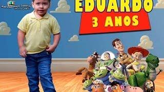 getlinkyoutube.com-EDUARDO 3 ANOS - TEMA: TOY STORY