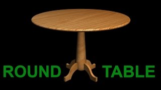 CREATING A 3D TABLE WITH WOODEN MATERIAL | AUTOCAD 3D RENDERING